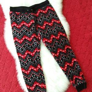 No Boundaries   Black Reindeer Pattern Sleep Pants